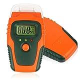Etekcity-in Digital Feuchtigkeit Meter feuchten Detektor für Holz und Baustoffen, mit Temperaturanzeige, orange/schwarz