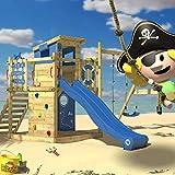 WICKEY Aire de jeux Smart Camp Tour de jeux Tour d'escalade avec toit...