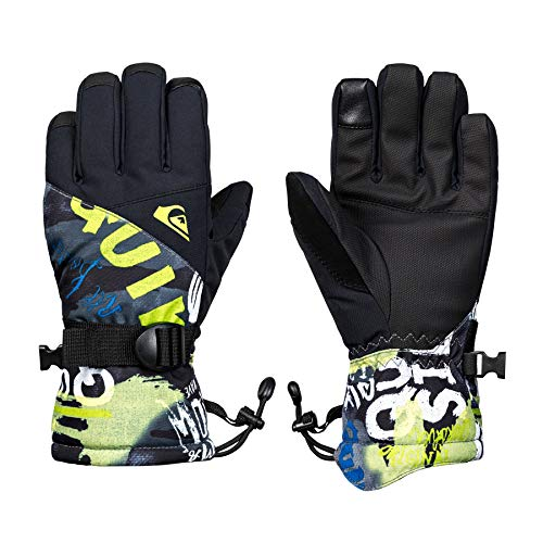 Quiksilver Mission Youth, Gloves Bambini e Ragazzi, Black/Construct, M