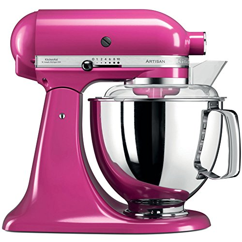 KitchenAid Artisan 300W 4.8L Lampone processor - food processors (Pink, Lever, AC, Stainless steel,...