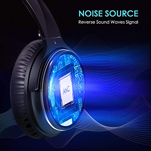 Casque Bluetooth Sans Fil Antibruit - Hiearcool Headphones Wireless Reduction de Bruit Universel Portable,Stéréo Qualité HIFI, pour tous les... 6