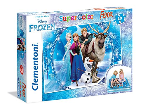 Clementoni - 25447 - Floor Puzzle - Frozen, Make your Own Magic - 40 Pezzi - Disney