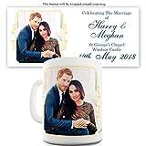 Twisted Envy Becher Harry und Meghan Hochzeit auf Schloss Windsor, keramik, weiß, 11 OZ