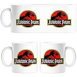 Taza Jurassic Park logo película - Cerámica