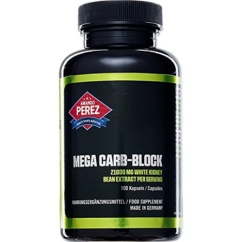 Mega Carb - 21000 mg - Fagiolo bianco (estratto bianco fagiolo (Phaseolus vulgaris)) e fieno greco - 100 presenze