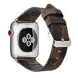 Per Apple Watch Band–Dancl cinturino in vera pelle, classico sostituzione iWatch Wristband con chiusura con fibbia, aggiornato adattatore per Apple Watch Series 3/2/1/sport e Edition 42mm