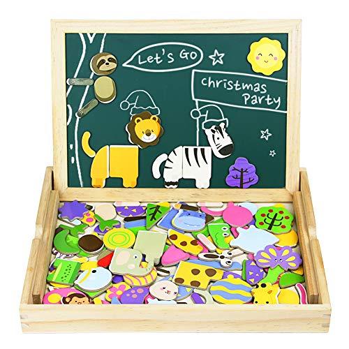 Akokie Giocattoli in Legno Costruzione Puzzle Bordo Magnetico Jigsaw Regalo di Natale per Bambini 3...
