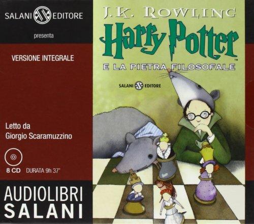 Harry Potter e la pietra filosofale letto da Giorgio Scaramuzzino. Audiolibro. 8 CD Audio: 1
