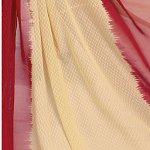 Ishin Women's Dress Material (Darvr1859R_Red & Beige_One Size)
