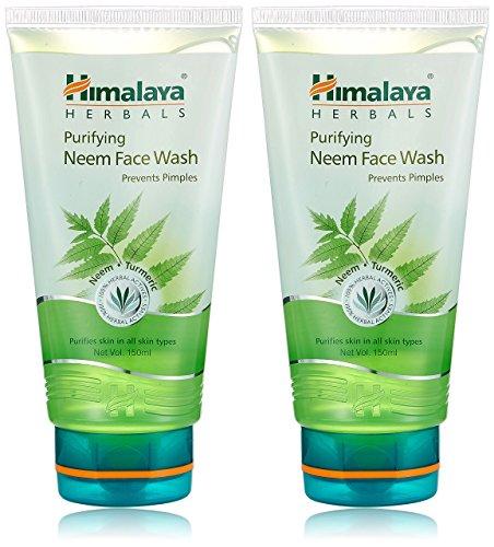 Himalaya Herbals Purifying Neem Face Wash, 2x150ml (Saver pack)