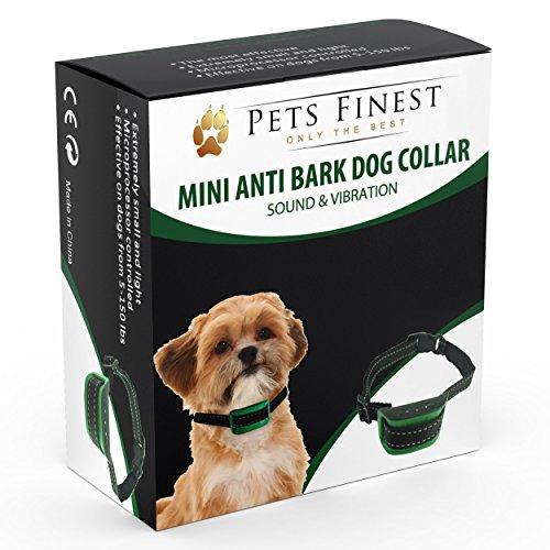 Pets Finest Collier Anti-Aboiement Chiens – Collier de Dressage pour...