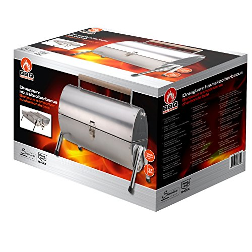 BBQ Collection Griglia in Acciaio Inox trasportabile per Barbecue-42 x 30 x 37 cm