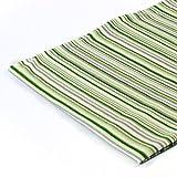1buy3 Tessuto Jersey Modellato al Metro |Stilismo: Strisce Verde|50cm x 80cm|92% Cotone, 8% Elastane|Molti Disegni tra Cui Scegliere|Jersey
