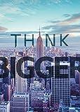 "Startup Poster ""Think bigger"" Motivation Spruch Office 59,5 cm x 42 cm DIN A2 Plakat Coworking space Büro Wandbild Wanddekoration Motivating Zitate Start up Wandaufkleber selbstklebend selbsthaftend"