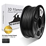 PETG Filament White, 3D Hero PETG Filament 1.75mm,PETG 3D Printer Filament, Dimensional Accuracy +/- 0.02 mm, 2.2 LBS(1KG),1.75mm Filament, Bonus with 5M PCL Nozzle Cleaning Filament