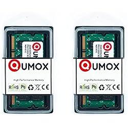 QUMOX Memoria para Ordenador 2x 2GB 4GB DDR2667MHz PC2–5300PC2–5400(200Pin) SODIMM