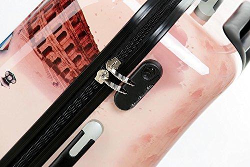 Polycarbonat Hartschale Koffer 2060 Trolley Reisekoffer Reisekofferset Beutycase 3er oder 4er Set in 12 Motiven (Tower) - 4