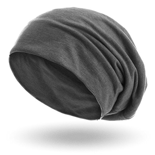 style3 Slouch Beanie aus atmungsaktivem, feinem und leichten Jersey Unisex Mütze