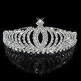 Tinksky Wedding Bride Beautiful Bridesmaid Crown Headband Tiara Crystal Rhinestones (Silver)