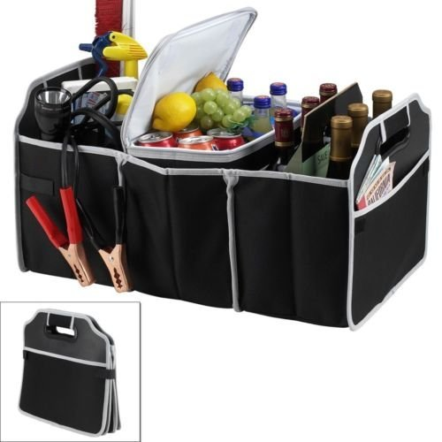Orpio Travel Trunk Cooler Insulated Leak Proof Collapsible Car Boot Organizer