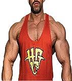 Hardgainer Crew T-Shirt Shirt Trainingsbekleidung Bodybuilding Herren Tanktops 80's HGC Stringer Tank (XXL)