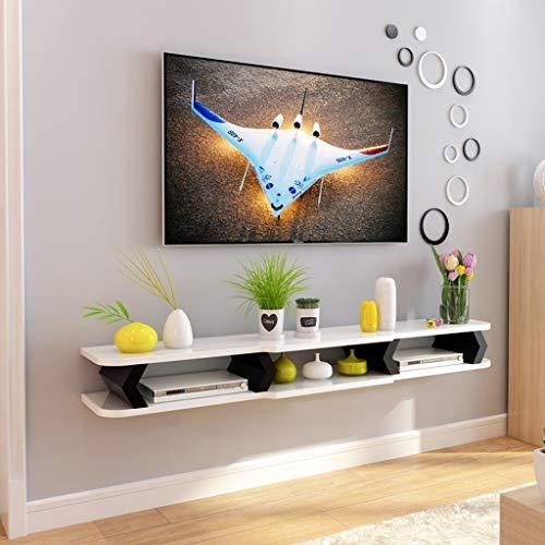 Mobile TV a Parete Mensola Galleggiante Mensola a Muro Camera da Letto Soggiorno TV Sfondo...