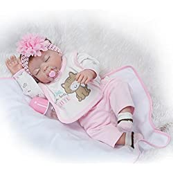 Nicery Baby Born de Muñecas Vinilo de Silicona Dura para Niños y Niñas Cumpleaños 20-22 Inch 50-55 cm Juguetes gx55z-29es
