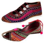 Ziaula Women Flat Ethnic Bellies and Shoes Combo Pack