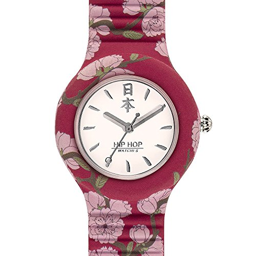 Hip Hop Watches - Orologio da Donna Hip Hop Cherry HWU0863 - Collezione I Love Japan - Cinturino in Silicone - Cassa 32mm - Impermeabile