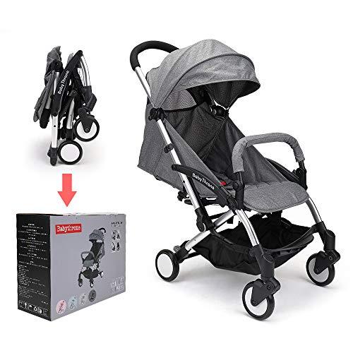 Passeggino babythrone, passeggino compatto, leggero e facile da usare, più adatto per il viaggio del tuo bambino (grigio scuro)