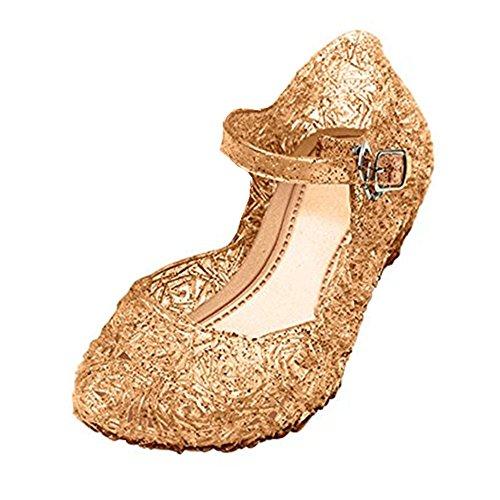 GenialES Scarpe Sandali di Vestito Principessa Ragazze Carnaval Fiesta Cosplay Halloween Plastica Comodo Da Indossare Altezza Tacco 3,5-4cm