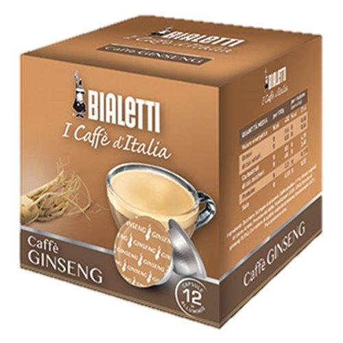 48 CAPSULE ALLUMINIO BIALETTI MOKESPRESSO I CAFFE' D'ITALIA CAFFE' GINSENG
