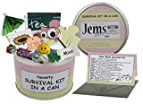 Mum To Be Survival Kit In A Can. Humorous Novelty Fun Gift - New Parent/Mother. Baby Shower/Maternity/Pregnancy Present & Card All In One. Customise Your Can Colour. (Pink/Cream)