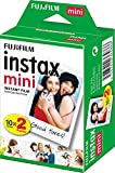 Fujifilm - Twin Films pour Instax Mini - 86 x 54 mm - 10 feuilles x 2 paquets = 20 feuilles(L'emballage peut varier)