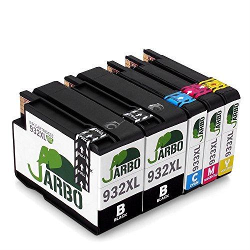 JARBO Compatibile HP 932XL 933XL Cartucce d'inchiostro (2 Nero,1 Ciano,1 Magenta,1 Giallo)...