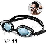 Occhialini da Nuoto , synmixx Anti-Appannamento Occhiali da Nuoto Protezione UV Anti-perdita Impermeabile Confortevole Occhiali da Nuoto per Donne, Uomini, Triathlon per Adulti