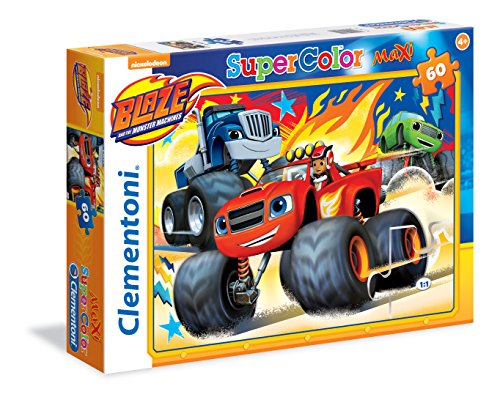 Clementoni 26412 - Puzzle Maxi Blaze And The Monster Machines, 60 Pezzi