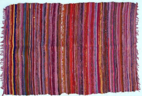 Guru-Shop Tappeto Patchwork Leggero, Coperta Patchwork 100x160 cm, di Colore Rosso, Cotone, Colore:...