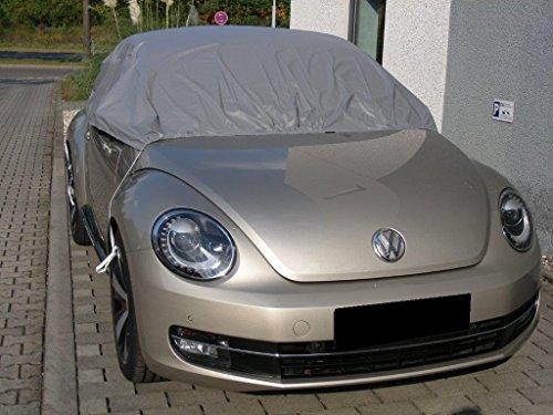 Kley & Partner Halbgarage Autoabdeckung Plane Haube wasserdicht Material California Light kompatibel mit Volkswagen VW New Beetle Cabrio ab 2012