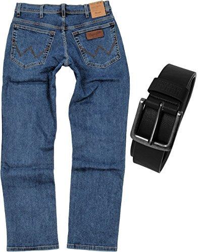 Wrangler TEXAS STRETCH Herren Jeans Regular Fit inkl. Gürtel...