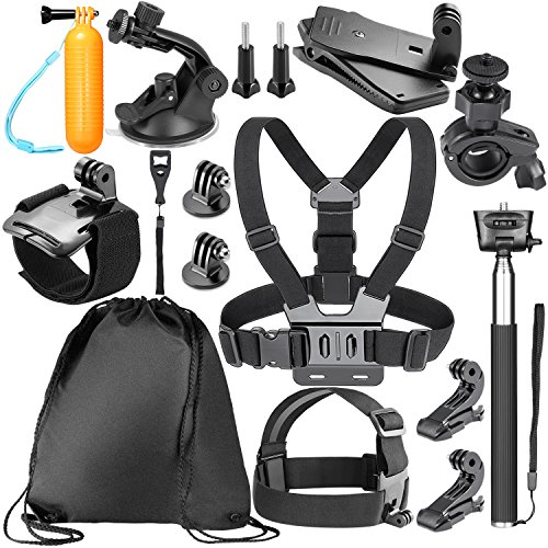 Neewer 14-in-1 Kit di Accessori per per GoPro Hero 6 5 4 3 + 3 2 1 Hero Session 5 Black AKASO EK7000, Sony Sport DV Fotocamere d'Azione
