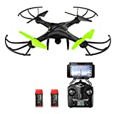Potensic Drone con Telecamera, U42W Aggiornato WiFi FPV 2.4Ghz Hover Droni Quadricottero Videocamera Camera HD, Headless Mode, 3D Flips