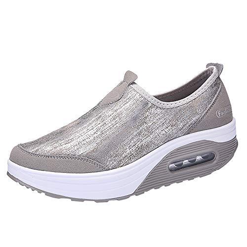 Zapatillas de Mujer de BaZhaHei, Malla Tejida Tejida Calzado Deportivo Casual Zapatos de Suela Gruesa Zapatillas Deportivas de Malla al Aire Libre para Mujer Zapatillas Deportivas Gruesa