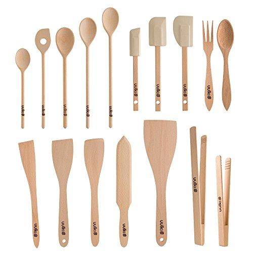 Kochutensilien Set aus Buchenholz - 17 Teile