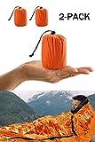 Premium Rettungsdecke Rettungsfolie Notfalldecke Notfall-Zelt Biwaksack Survival Schlafsack für Erste Hilfe?Notfall Outdoor Tube Zelt mit Ultraleicht hitzeabweisend Kälteschutz