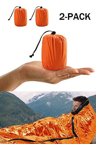 Notfall-Zelt, Biwaksack Survival Schlafsack für Erste Hilfe,Notfall Outdoor Tube Zelt mit Ultraleicht hitzeabweisend Kälteschutz