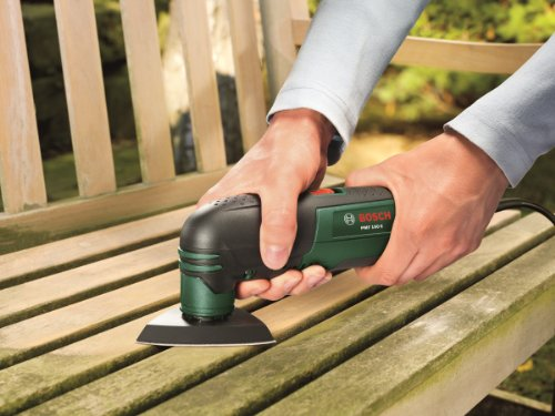 Great for sanding - Bosch PMF 190 E Multifunction Tool with Cutting Discs, Saw Blades and Sander Sheets