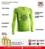 X-Bionic Invent 4.0 Round Neck Long Sleeves, Strato Base Camicia Funzionale Unisex Bambini, Green Lime/Black, XL