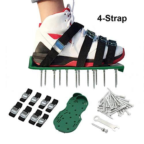 ValueHall Aireador de Césped Zapatos Sandalias, 4 Correas Ajustables, para Airear el Césped o en el Patio (Verde) V7056