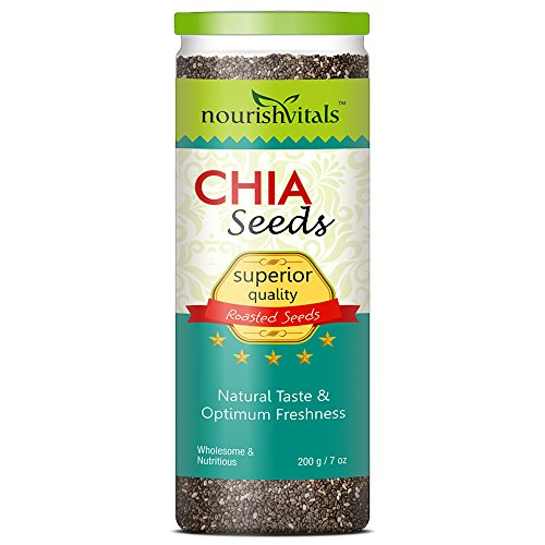Nourishvitals Superior Quality Roasted Chia Seeds - 200 g